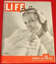 Life Magazine December 6, 1943 Vintage Ads Good Year Very Good Condition
