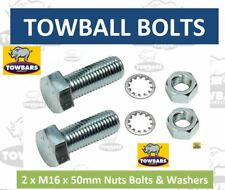 2 x Towball Nut Bolts & Washers M16 x 50 High Tensile (8.8) Zinc Plated Towbar