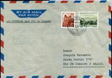 420241) Liechtenstein Nr. 223+234 a. Luftpost 1947 nach Brasilien