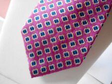 LAUREN RALPH LAUREN Pink / Blue Novelty Print Tie - 100% Silk