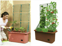 Mobile Vegetable Patch Trellis Self Watering Planter Tomatoes Herb Flower Garden
