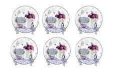 China Lavender Flower Set Of 6 Cake Lunch Dessert Plate Set Gift Boxed