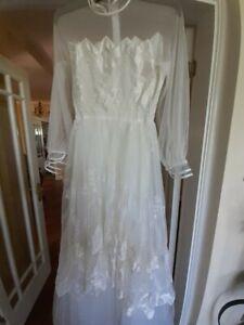 Vintage Pronuptia De Paris Wedding Dress size 10/12