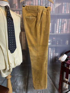 "Vintage David Andrew Yellow/Corn Corduroy Trousers 34""/87cm Waist, 32""/81cm Leg"