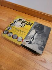 VINTAGE GILBERT MICROSCOPE SET 3A w/ POLAROID JUNIOR - Estate Find AS-IS