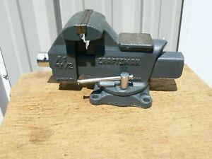 "VINTAGE Craftsman 51865, 4 1/2"", 4.5, Reversible, Pipe Jaw Bench Anvil Vise, USA"