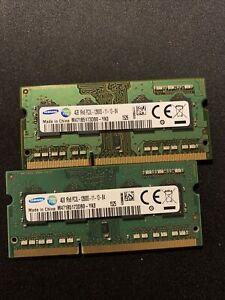 8GB KIT 2x4GB SODIMM DDR3 - 1600mhz - PC3L-12800S - MEMORIE SAMSUNG DUAL CHANNEL