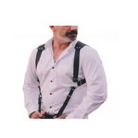 Men's Leather Vest Straps Braces