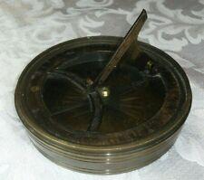 Vintage Brass Maritime Marine Sundial Compass