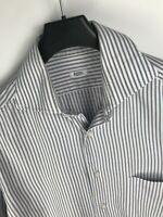 Barba Napoli Men's Striped Cotton Shirt 41 16 L Large Luxury