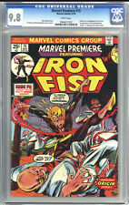 MARVEL PREMIERE #15 CGC 9.8 WHITE PAGES 1974 1st Iron Fist - Highest Graded!