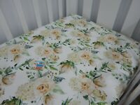 Fitted Cot Sheet August Rose Fits up to 70 x 130cm mattress
