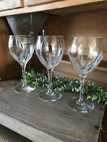 """Rare Mikasa Flame D'Amore Magnum Water/Wine Goblets 9 1/8"""" ~LOVELY~ 3 Available"""