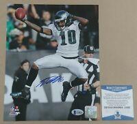 DeSean Jackson Autographed Philadelphia Eagles 8x10 Photo BAS - Celebration