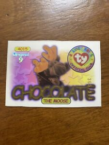 TY BEANIE BABIES CARD SILVER CHOCOLATE THE MOOSE, #365/884, S1 ORIGINAL 9, 1998