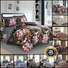 Floral Cotton Duvet Cover Bedding Set Single Double king Size Quilted Bed Throw