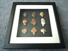 Paleolítica puntas de flecha en 3D Marco de foto, auténticos artefactos 70,000BC (T069)