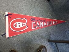 VINTAGE 1970 NHL FULL SIZE HOCKEY PENNANT MONTREAL CANADIENS 29 INCHES FELT