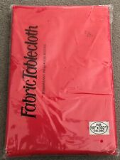 """Elrene 60"""" x 102"""" Oblong Red Linen Texture Fabric Tablecloth. New in Sealed Bag."""