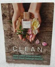 Clean Reserve WARM COTTON Eau De Parfum EDP Spray Women Vial .05 oz/1.5mL New