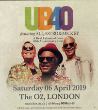 UB40 APRIL 2019 ADVERT LONDON THE O2  -  A REAL LABOUR OF LOVE 40TH ANNIVERSARY