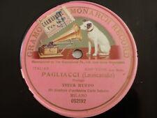 78rpm Titta Ruffo - Pagliacci, Prologo (Leoncavallo) - Gramophone Monarch 052192