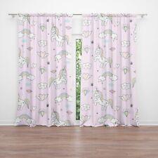 Unicorn Window Curtains colorful Girly Drapery Curtain Panels unicorn nursery