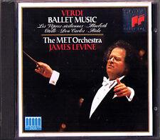 James LEVINE: VERDI Ballet Macbeth Aida Otello Don Carlos I vespri siciliani CD