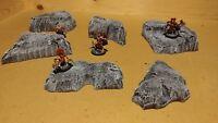 Wargaming Terrain - Small Box Set of Hills Stone Finish