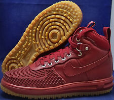 Nike Lunar Force 1 Duckboot Team Red Gum Soles Sneakerboot SZ 9 ( 805899-600 )