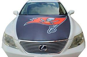 Football Car Flag Hood Cover Tampa Bay Team Slip-On Washable Fabric buccaneer