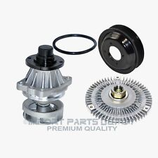 Water Pump (Metal Impeller) + Fan Clutch + Pulley Kit BMW E46 3 Series X5 New