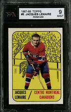 1967-68 TOPPS~#3~JACQUES LEMAIRE~HOF ROOKIE CARD~MONTREAL CANADIENS ~KSA 9 MINT
