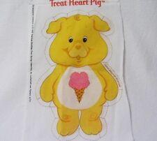 CARE BEAR COUSINS TREAT HEART PIG YELLOW PILLOW PANEL FABRIC PATTERN 6731