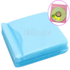 100PC/Set CD DVD Disc Double Side Cover Storage Case Bag Sleeve Envelope Holder