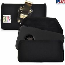 iPhone 4S Nylon cell phone Pouch Holster Case with Metal Belt Clip