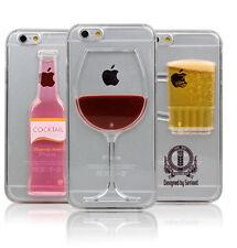 Rojo Copa de vino coctel CERVEZA Movimiento Liquid Carcasa Protectora iPhone 5