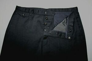 JIL SANDER Made in Italy 52 / 34 Gray 5-Pocket Virgin Wool Dress Pants