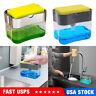 2 in 1 Soap Pump Dispenser & Sponge Holder Dish Soap Storage Dispensers Kitchen