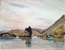 SNOWDONIA CREGENNEN LAKE 29/6/1942 F.E.TAYLOR ORIGINAL VINTAGE WATERCOLOUR