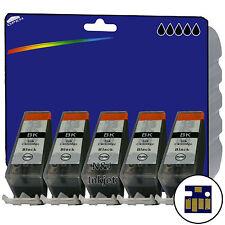 5 Nero Compatibile Stampante Cartucce Di Inchiostro Per Canon Pixma IP4700 [ PGI-520 ]