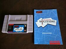 Super Solitaire (Super Nintendo SNES, 1993) Tested w Manual Very Nice!