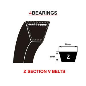 V BELT Z SECTION BELT SIZES Z15 - Z78 V BELT 10MM X 6MM