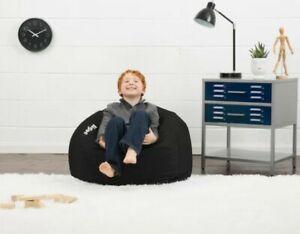 Big Joe Classic Bean Bag Kids Furniture Adult Teen Comfy Round Chair - Black