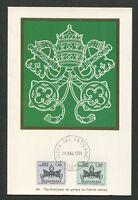 VATICAN MK 1968 PORTO PAPST POPE PAPA MAXIMUMKARTE MAXIMUM CARD MC CM d7591