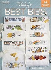 BABY'S BEST BIBS ~ Leisure Arts ~ Counted Cross Stitch CHARTS Patterns NEW