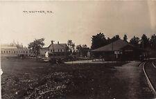 E4/ Mt Whittier New Hampshire NH Real Photo RPPC Postcard c1910 Railroad Depot
