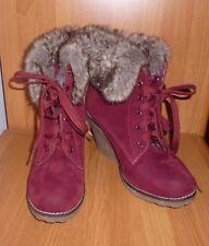 Kayla Shoes Stiefel Stiefeletten gefüttert Größe 41 , bordeaux-rot