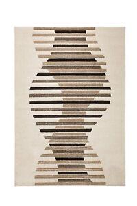 Teppich Design Bali Welle Farbe Beige mit Konturenrelief Modern versch. Größen
