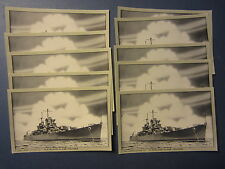 Wholesale Lot of 10 - WWII - Cleveland Class Cruiser POSTCARDS - U.S. NAVY SHIP